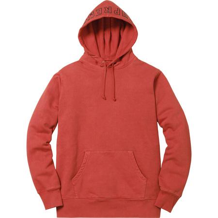 Overdyed Hooded Sweatshirt (Brick)