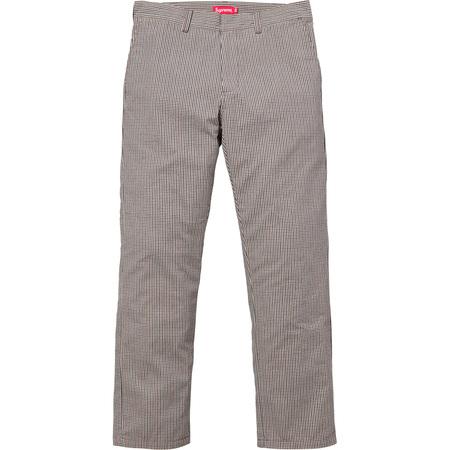 Mini Check Work Pant (Brown)