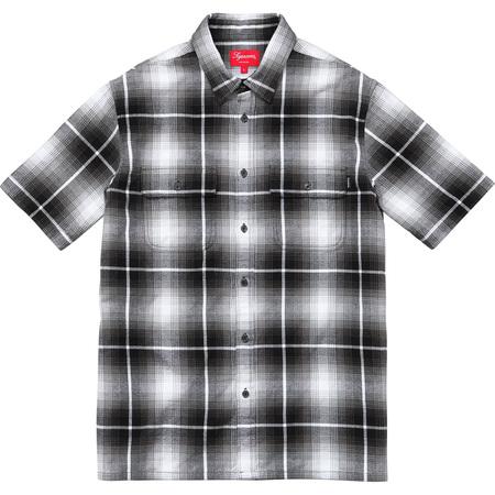 S/S Plaid Flannel Shirt (Black)