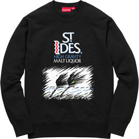 Supreme®/St. Ides® Crewneck (Black)
