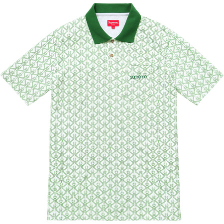 Rope Print Polo (Green)