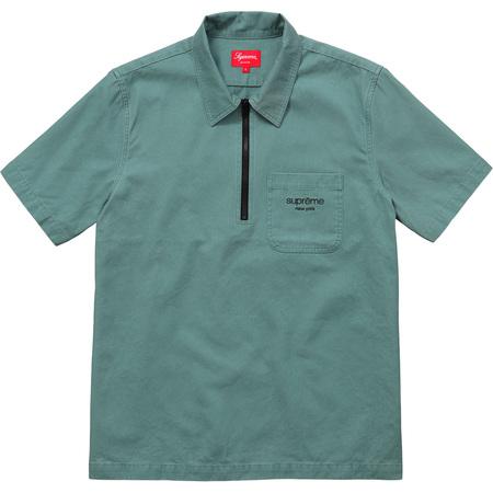 Twill Half Zip Shirt (Green)