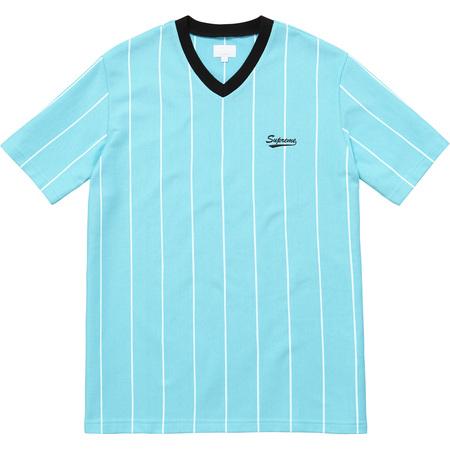 Pinstripe Soccer Top (Light Blue)