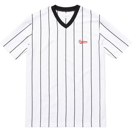 Pinstripe Soccer Top (White)