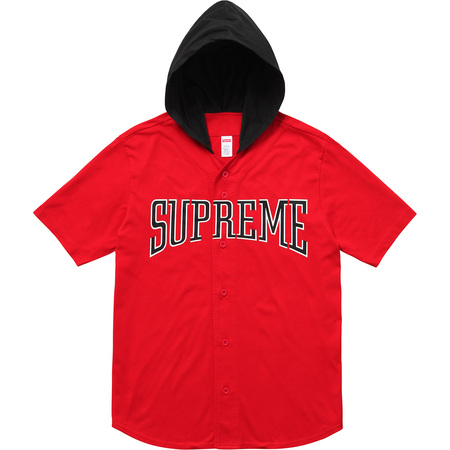 Hooded Baseball Top (Red)