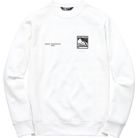 Supreme/The North Face Steep Tech Crewneck (White)