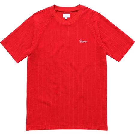 Striped Terry Raglan Top (Red)