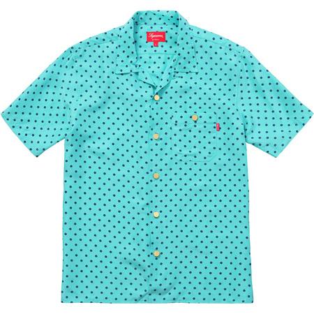 Polka Dot Silk Shirt (Teal)
