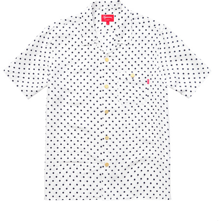 Polka Dot Silk Shirt (White)