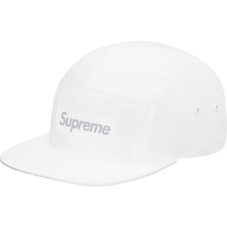 Printed 3M® Reflective Logo Camp Cap (White)