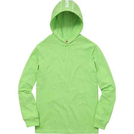 Hooded Stripe L/S Top (Lime Green)