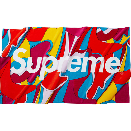 Abstract Beach Towel (Red)