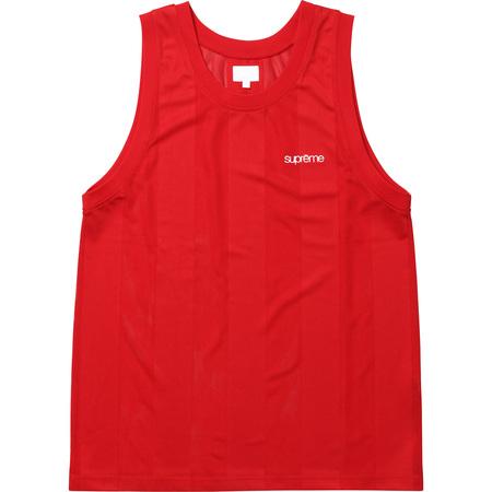 Mesh Stripe Tank Top (Red)