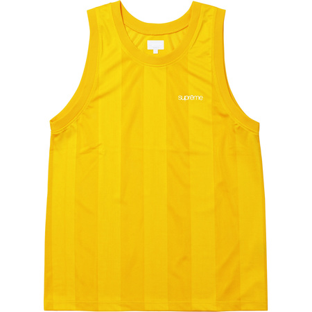 Mesh Stripe Tank Top (Yellow)