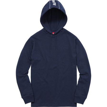 Hooded Stripe L/S Top (Navy)