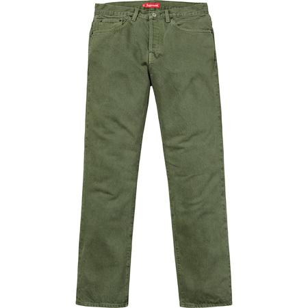 Washed Regular Jeans (Green)