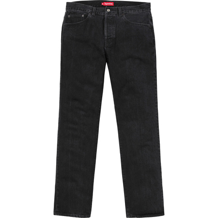 Washed Regular Jeans (Black)