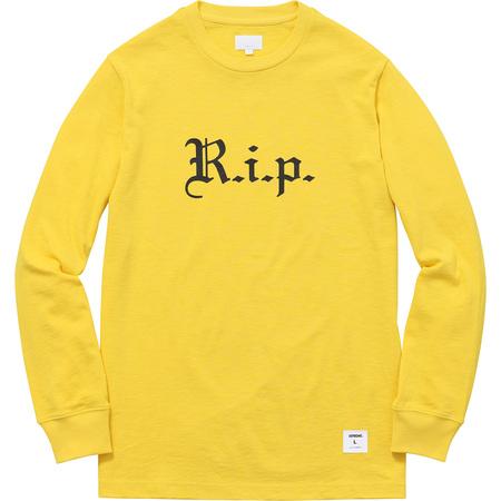 R.i.p. L/S Tee (Yellow)