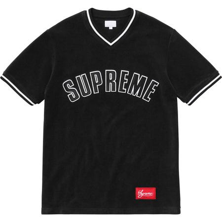Velour Baseball Top (Black)