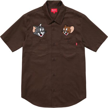 Supreme®/Tom & Jerry© S/S Work Shirt (Brown)