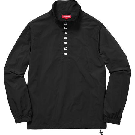 Zip Logo Pullover Windbreaker (Black)