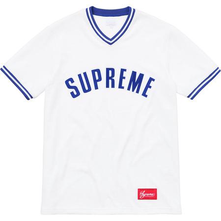Velour Baseball Top (White)