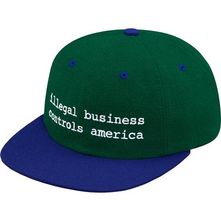 2-Tone Illegal Business 6-Panel (Dark Green)