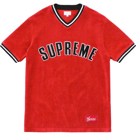Velour Baseball Top (Red)