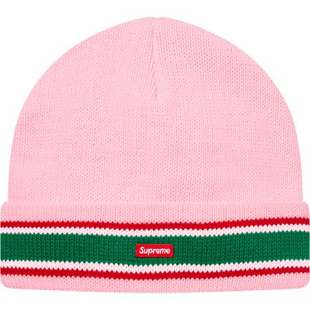 Striped Cuff Beanie (Pink)
