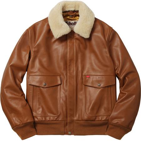 Supreme®/Schott® Leather A-2 Flight Jacket (Camel)