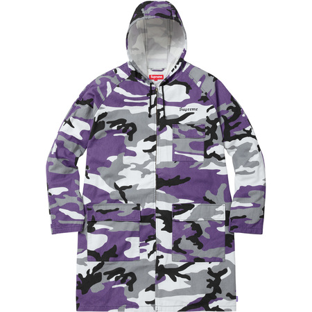 Twill Zip Parka (Purple Camo)