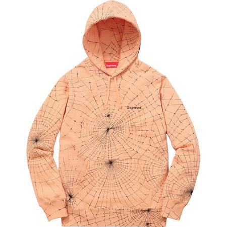Spider Web Hooded Sweatshirt (Peach)