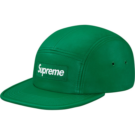 Leather Camp Cap (Kelly Green)