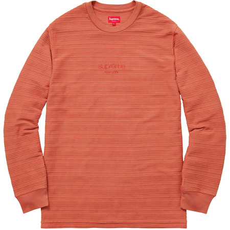 Raised Stripes L/S Top (Orange)