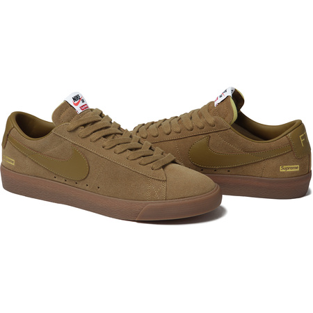 Supreme®/Nike® SB Blazer Low (Tan)