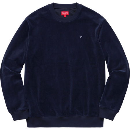 Velour Crewneck (Navy)