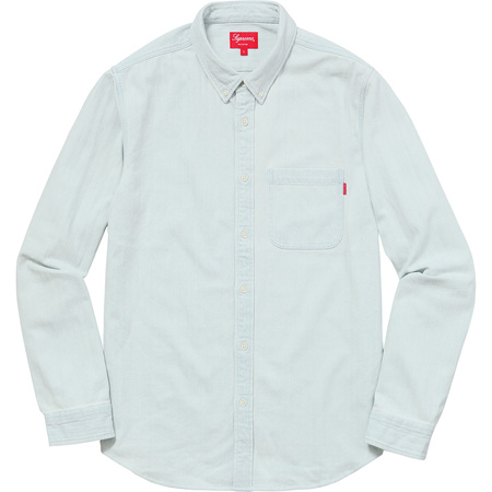 Herringbone Denim Shirt (Denim)