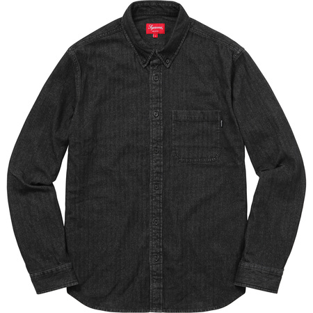 Herringbone Denim Shirt (Black)