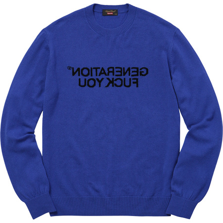 Supreme®/UNDERCOVER Generation Fuck You Sweater (Royal)