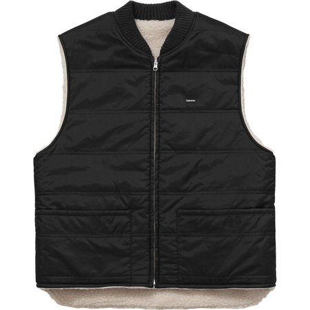 Sherpa Fleece Reversible Work Vest (Black)