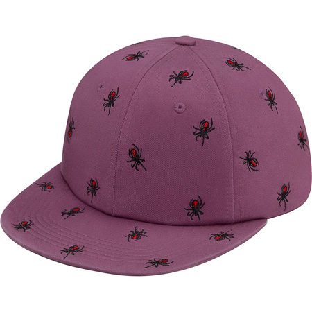 Embroidered Spiders 6-Panel (Purple)