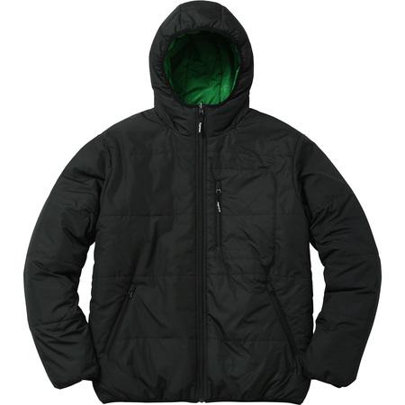 Reversible Hooded Puffy Jacket (Black)