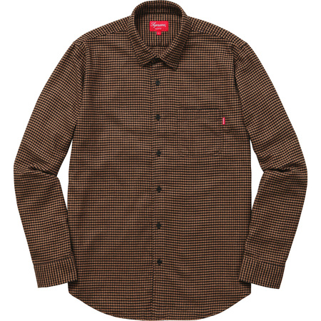 Houndstooth Flannel Shirt (Brown)