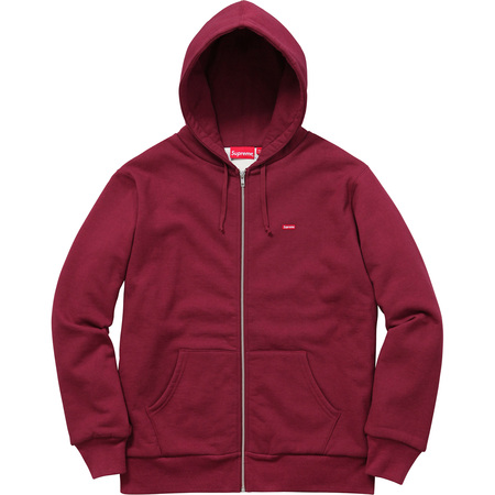 Small Box Thermal Zip Up Sweat (Burgundy)