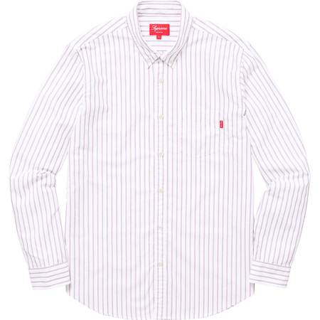 Oxford Shirt (Red/Royal Stripe)