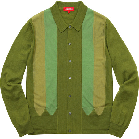 Arrows Striped Polo Sweater (Moss)