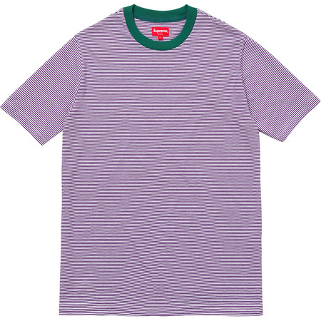 Micro Stripe Tee (Purple)