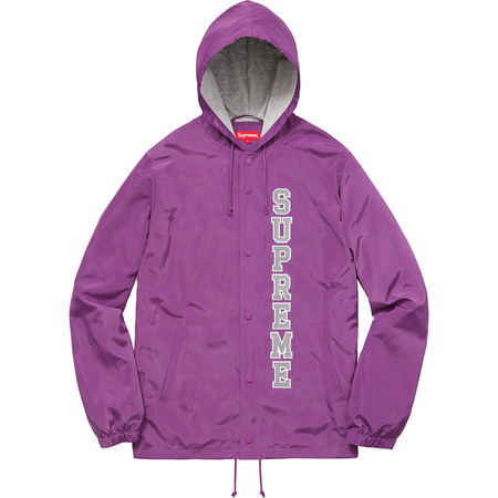 Vertical Logo Hooded Coaches Jacket (Purple)