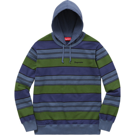 Striped Hooded Crewneck (Royal)