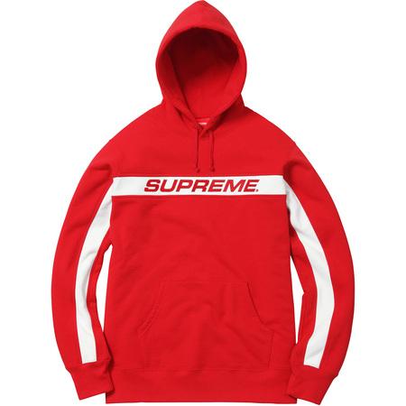 Full Stripe Hooded Sweatshirt (Red)